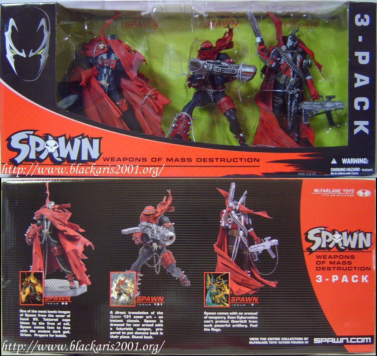 Spawn 3-Pack Diamond Comic Exclusive